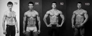 Before and after bodybuilding sessions